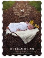 Monogram Heart Birth Announcements