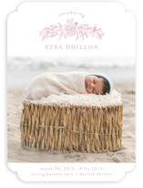 Golden Posey Birth Announcements