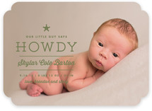 Howdy Birth Announcements