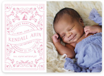 Little Baby Lullaby Birth Announcements
