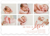 So This Is Love Birth Announcements