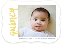 Name Sideways Birth Announcements