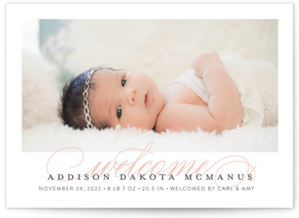 Graceful Entrance Birth Announcements