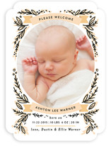Banner Frame Birth Announcements