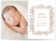 Framed Florals Birth Announcements