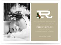 Holly + Alphabet Baby Birth Announcements