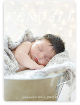 Classic Introduction Birth Announcements