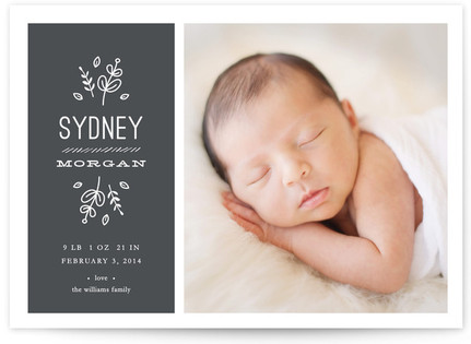 Cafe Baby Birth Announcements