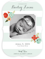 Mint Flower Birth Announcements