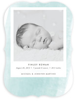 Watercolor Swash Birth Announcements