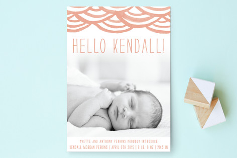 Watercolor Bunting Birth Announcements