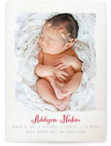 Painted Canvas Birth Announcements