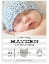 Simple Stats Birth Announcements