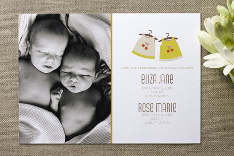 Cheery Frock Birth Announcements