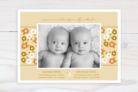 Flower Child Birth Announcements