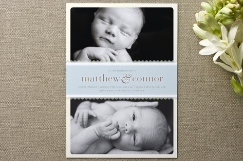 Sweet Scallop Birth Announcements