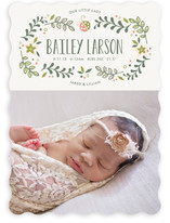 Sweet Little Ladybug Birth Announcements