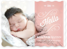 Heirloom Scroll Birth Announcements