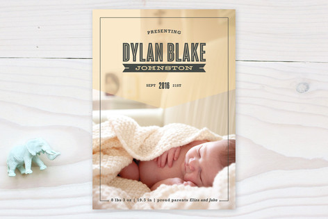 Proudly Presenting Birth Announcements