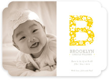 Vintage Monogram Birth Announcements
