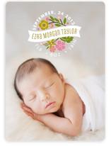 Flower Seal Birth Announcements