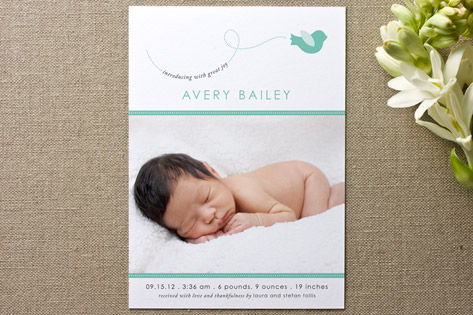 A Little Birdie Told Me Birth Announcements