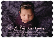 chic baby Birth Announcements