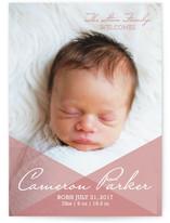 Overlay Love Birth Announcements