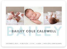 Bold Name Birth Announcements