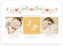 Folk Initial Birth Announcements
