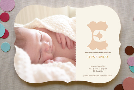 Alphabet Birth Announcements