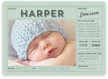 Vintage Name Grid Birth Announcements