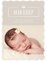 Nameplate Birth Announcements