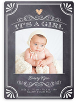 It's A Girl Vintage Chalkboard