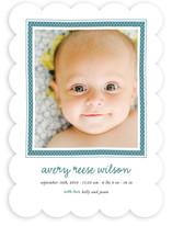 Polka Dot Frame Birth Announcements