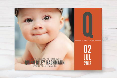 My First Initial Birth Announcements