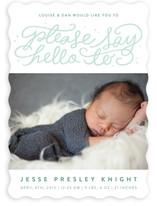 Say Hello Birth Announcements