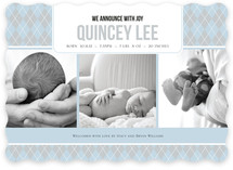 Argyle Welcome Birth Announcements