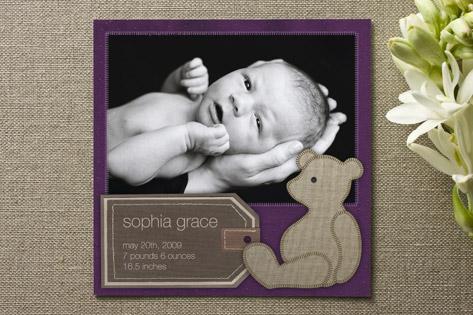 Bear Book Birth Announcements