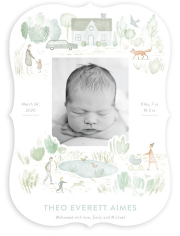 In the Park Birth Announcements