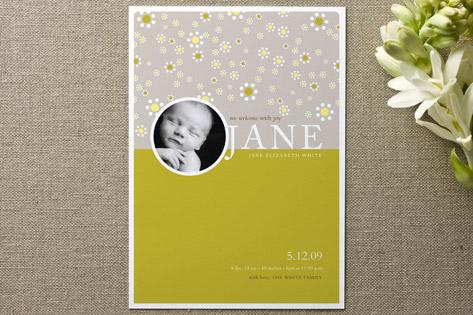 Daisies Birth Announcements