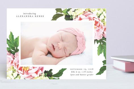 Vintage Rose Birth Announcements