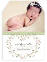 Heart Floral Frame Birth Announcements