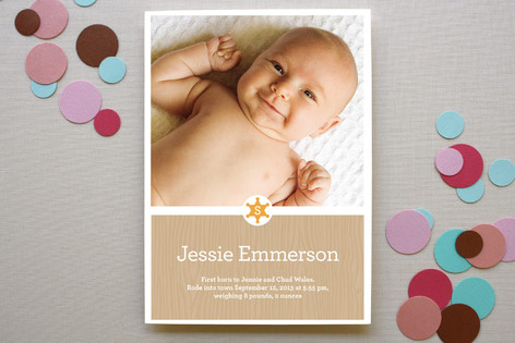 Not So Wild West Birth Announcements