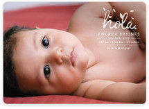 1er Hola Birth Announcements