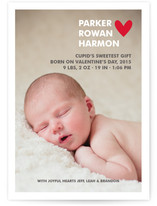 Simple Hearts Birth Announcements