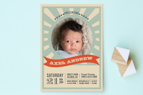 Our Little Contender Birth Announcements