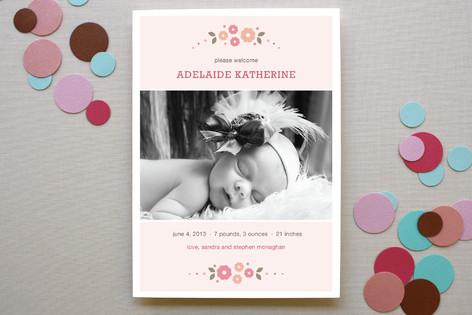 Baby Bouquet Birth Announcements