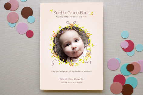 Perfect Gift Birth Announcements