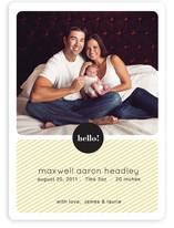 Hello Max Birth Announcements